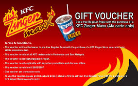 discount gift cards how and kfc zinger maxx discount voucher everything about malaysia