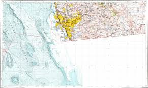 San Diego Bay Map by Download Topographic Map In Area Of San Diego Tijuana Chula