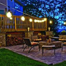 Patio String Lighting by New Solar Powered Retro Bulb String Lights For Garden Outdoor