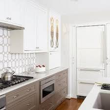 white and taupe lower kitchen cabinets white kitchen cabinets with taupe lower kitchen