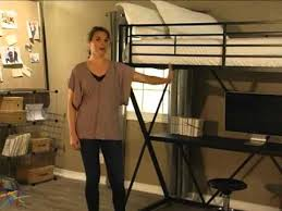 duro z bunk bed loft with desk black product review video youtube