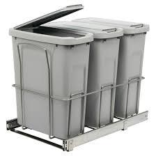 poubelle cuisine encastrable coulissante poubelles coulissantes avec couvercles rona