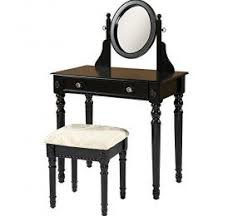 Linon Home Decor Vanity Set With Butterfly Bench Black Linon Home Decor Vanity Set Decor