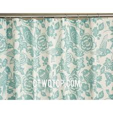 Unique Shower Curtains Green Flower And Birds Patterned Best Unique Shower Curtains