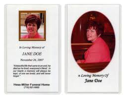 prayer cards for funerals hess miller funeral home services