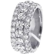 white gold eternity ring mens diamond eternity band ring 14k white gold 5 75 ct 10 mm
