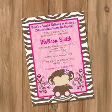 monkey baby shower invitations baby shower invitations