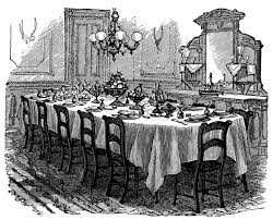 Victorian Dining Room Furniture 1886 Vintage Kitchen Clip Art Black And White Graphics Victorian