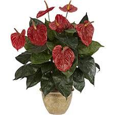 Plant Vase Flowers Artificial Plants For Less Overstock Com