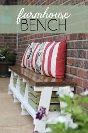 How To Build A Farmhouse Bench Simple Diy Farmhouse Bench Tutorial With Storage Farmhouse
