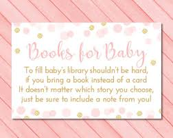 Bring Book Instead Of Card To Baby Shower Book Request Cards Please Bring A Book Instead Of A Card