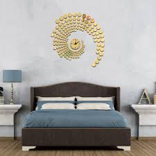 aliexpress com buy 3d circle mirror wall stickers large aliexpress com buy 3d circle mirror wall stickers large decorative wall clocks home living room clock wallpaper murals plastic mirror clock decal from