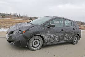 2018 nissan leaf spied it u0027s more car like than the first
