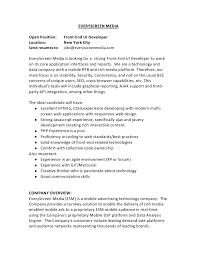 Front End Developer Resume Sample by Front End Developer Resume Contegri Com