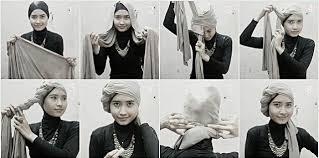 tutorial hijab turban ala april jasmine pintar pakai jilbab tutorial jilbab turban style hijab style