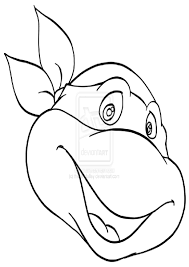 ninja turtle face coloring page free download