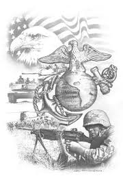 marine corp tattoo coloring pages pictures to pin on pinterest