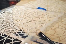 handmade stenciled tree skirt no sew lemonade