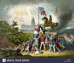 Civil War Union Flags American Civil War 1861 1865 Raising The Flag May 1861 Us Flag