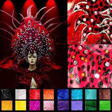 carnival red dalmatian fur feather headdress mardi gras headdress