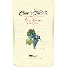 columbia valley wine collections chateau chateau ste cold creek vineyard merlot 2012 wine