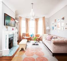 most comfortable living with sofa chandelier