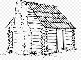 log cabin drawings log cabin drawing line art clip art cabin png download 1641