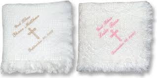 christening blanket personalized personalized baby baptism afghan beautiful carriage throw