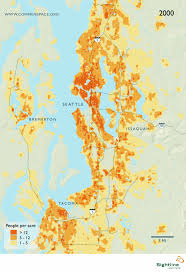 Population Map Seattle Area Population Density Map Sightline Institute