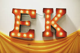 diy carnival marquee letters ruffled