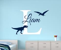 baby names wall promotion shop for promotional baby names wall on customize name dinosaur wall decals for boys bedroom kids room nursery wall art stickers personalized name baby wall decals jw26