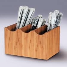 bamboo flatware caddydiy flatware caddyflatware caddy for