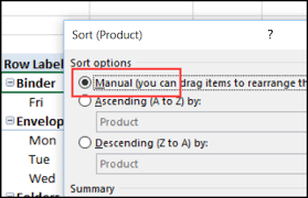 Sort A Pivot Table New Pivot Items At End Of List Excel Pivot Tablesexcel Pivot Tables