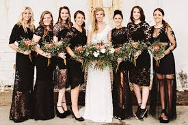 black bridesmaid dresses chic black bridesmaids dresses bridal musings