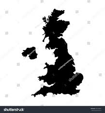 Blank Map Britain by Vector Illustration Black Silhouette Uk Map Stock Vector 444700081