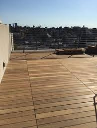 customer who built his deck with bison wood tiles what a gorgeous