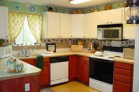 Mixed Style Simple Kitchen Room Design Burnt Orange Kitchen - Simple kitchen interior design pictures