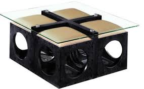 Coffee Table With Stools Underneath Coffee Table Exciting Coffee Table With Ottomans Underneath
