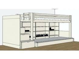 bureau pour lit mezzanine 50 ides de lit mezzanine avec bureau galerie dimages