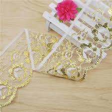 gold lace ribbon flower lace trim 60mm gold lace fabric trim gorgeous cheap