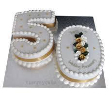 anniversary cake 50th anniversary cakes 50th wedding anniversary cakes yummycake