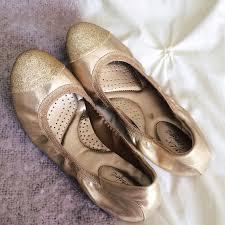 Dexflex Comfort Flats Dexflex Comfort Gold Glitter Toe Flats From Mandy U0027s Closet On