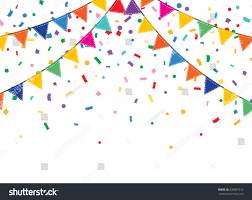 background bunting garland colorful festive stock vector