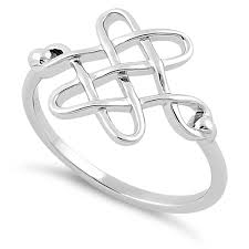 celtic knot ring sterling silver celtic knot ring