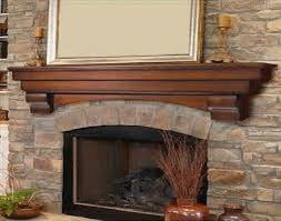 Stone Fireplace Mantel Shelf Designs by