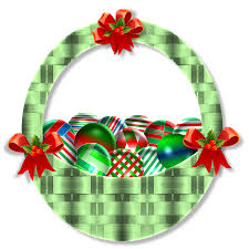 Christmas Basket Free Illustration Christmas Basket Ornaments Green Free