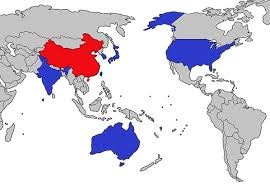 map us japan us japan india australia is the step to an asian nato