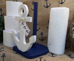 themed paper towel holder anchor table decoranchor paper towel holdernavy blue