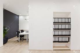 Office Wall Design Interior Of The Modern Office Stock Photo Picture And Royalty