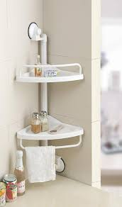 Bathroom Storage Unit by Shower Caddy Hanging Telescopic Corner White Shelf Kitchen